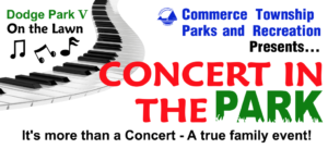 Concert in the Park header - a true family event