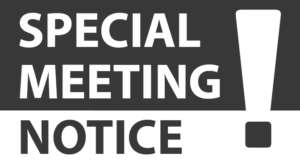Special Meeting Notice Image
