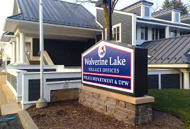 Wolverine Lake Sign