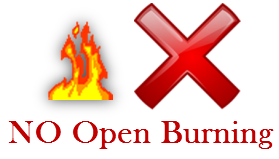 No open burning allowed
