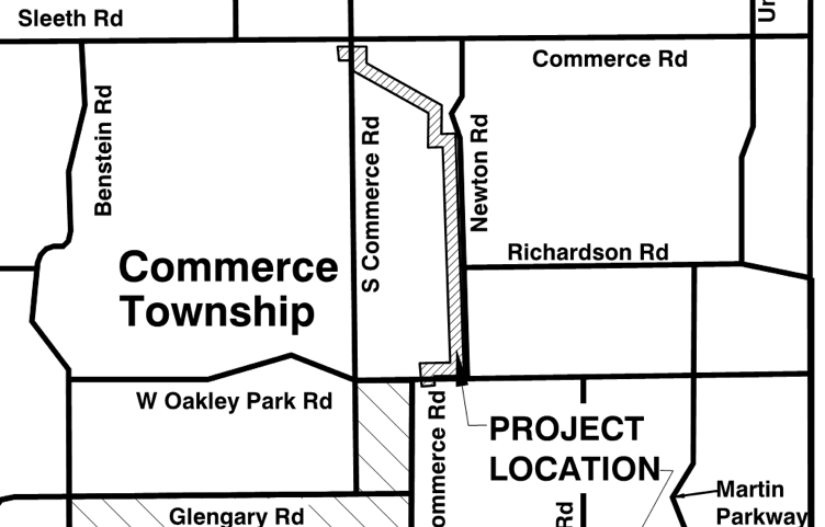 Newton Rd. Force Main Project - location map