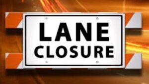 Lane Closure Sign